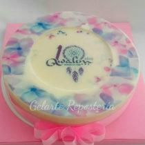 Torta de gelatina con logo